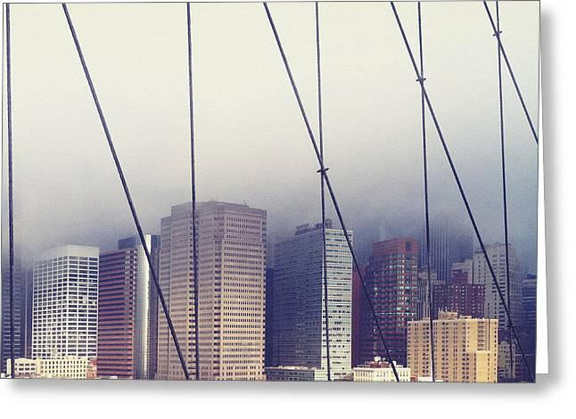 Brooklyn Bridge Greeting Card by Eli Maier