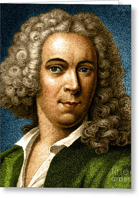 Taxonomist Greeting Cards - Carl Linnaeus, Swedish Botanist, Father Greeting Card by Science Source