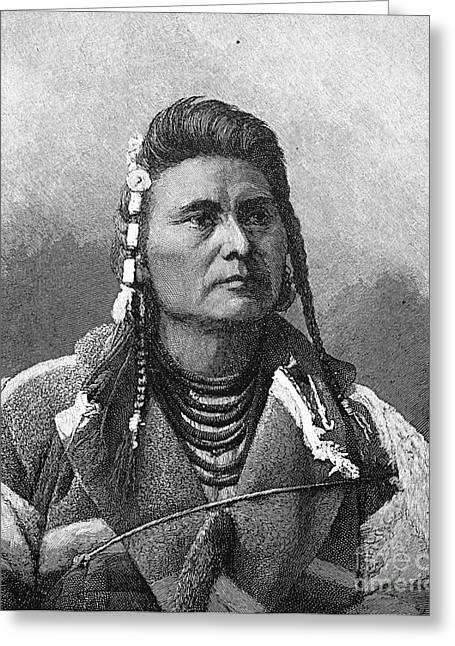 Chief Joseph Greeting Cards - Chief Joseph (1840-1904) Greeting Card by Granger