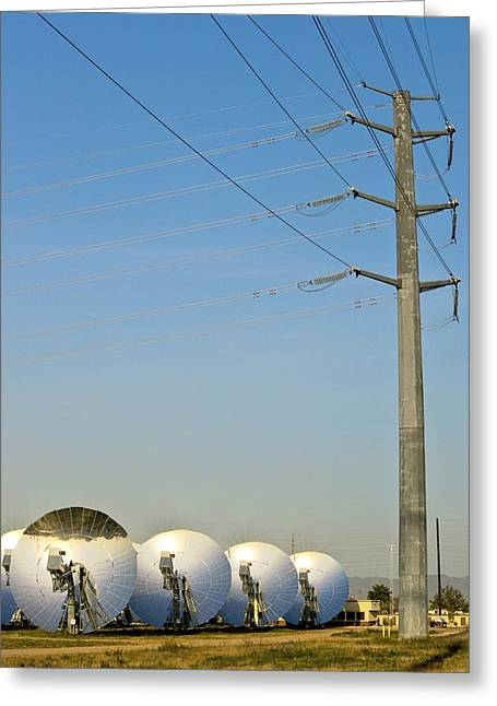 Power Plants Greeting Cards - Concentrating Solar Power Plant Greeting Card by David Nunuk