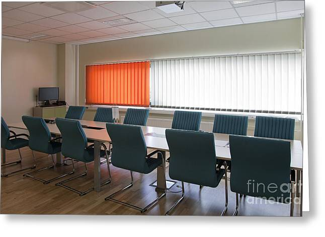 """""""meeting Room"""" Greeting Cards - Conference Room Greeting Card by Jaak Nilson"""