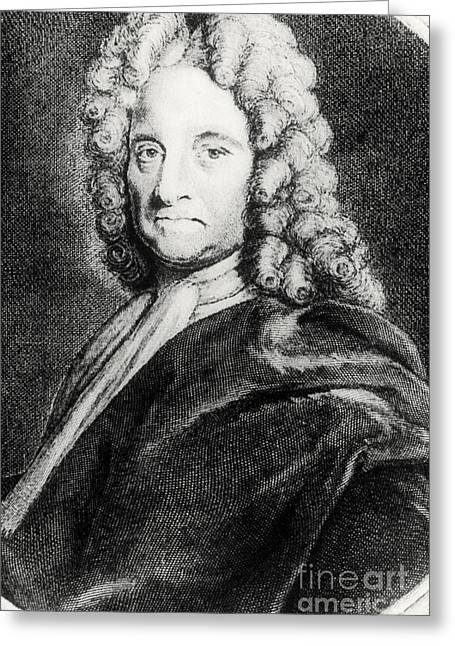 Halley Greeting Cards - Edmond Halley, English Polymath Greeting Card by Science Source