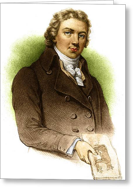 Pox Greeting Cards - Edward Jenner, English Microbiologist Greeting Card by Science Source