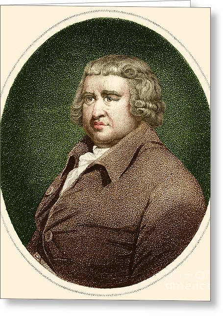 Erasmus Darwin, English Polymath Greeting Card by Science Source