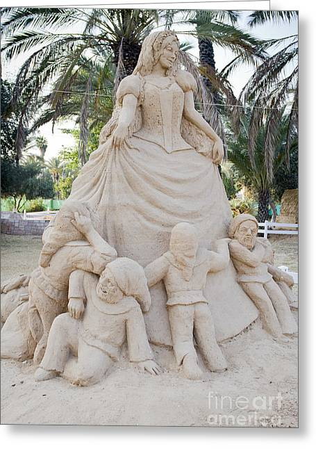 Artistic Creation Greeting Cards - Fairytale Sand Sculpture  Greeting Card by Sv