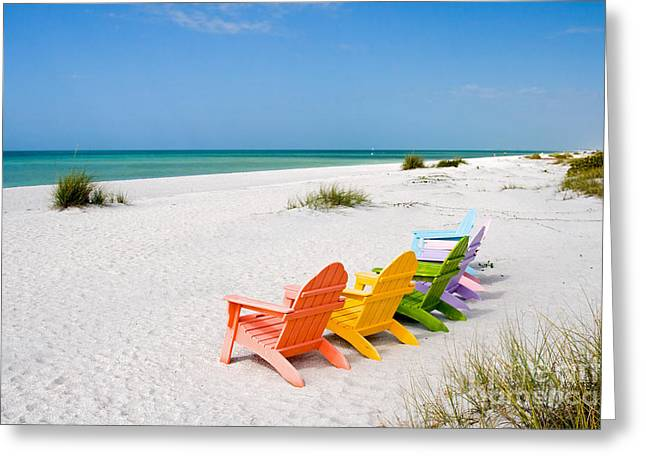 Tropical Island Greeting Cards - Florida Sanibel Island Summer Vacation Beach Greeting Card by ELITE IMAGE photography By Chad McDermott