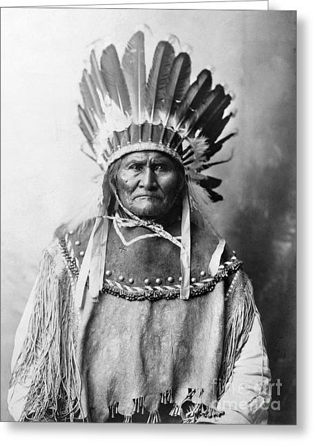 Qed Photographs Greeting Cards - Geronimo (1829-1909) Greeting Card by Granger
