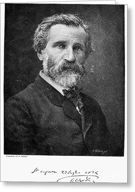 Autograph Greeting Cards - Giuseppe Verdi (1813-1901) Greeting Card by Granger