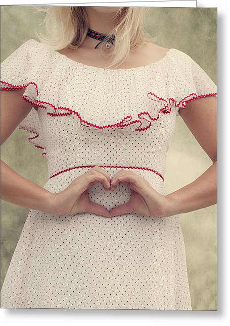 Collar Greeting Cards - Heart Greeting Card by Joana Kruse