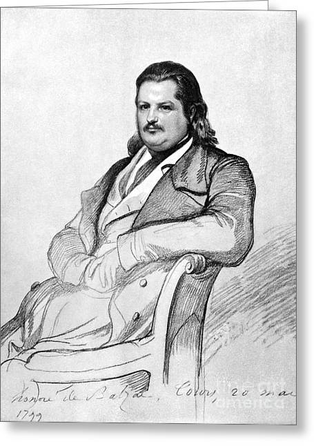 Honore Greeting Cards - HONORE de BALZAC (1799-1850) Greeting Card by Granger