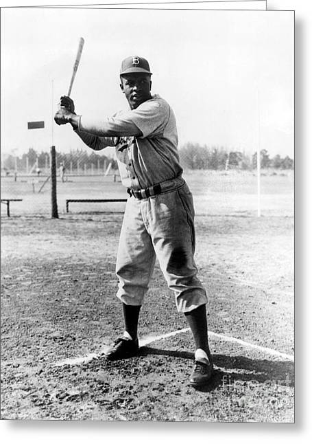 1950s Portraits Greeting Cards - Jackie Robinson (1919-1972) Greeting Card by Granger