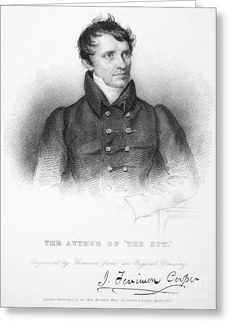 Autograph Greeting Cards - James Fenimore Cooper Greeting Card by Granger