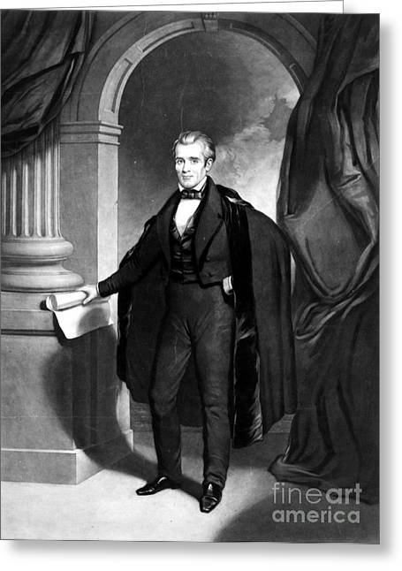 Sully Greeting Cards - James K. Polk (1795-1849) Greeting Card by Granger