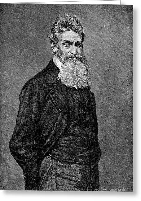 Abolition Photographs Greeting Cards - John Brown (1800-1859) Greeting Card by Granger