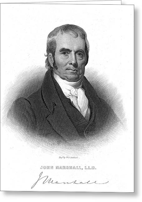 Autograph Greeting Cards - John Marshall (1755-1835) Greeting Card by Granger