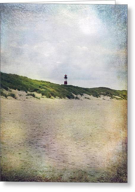 Sandy Beaches Greeting Cards - Lighthouse Greeting Card by Joana Kruse