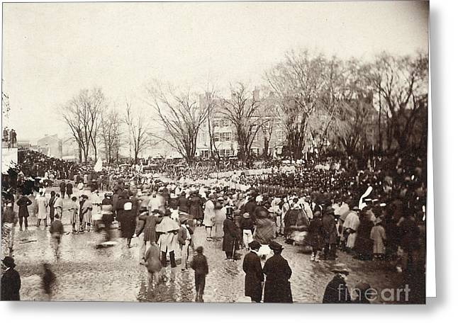 Inauguration Greeting Cards - Lincolns Inauguration Greeting Card by Granger