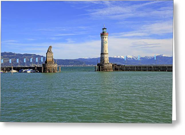 Lake Constance Greeting Cards - Lindau Greeting Card by Joana Kruse