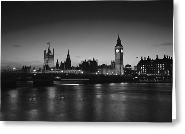 The Houses Greeting Cards - London  Skyline Big Ben Greeting Card by David French