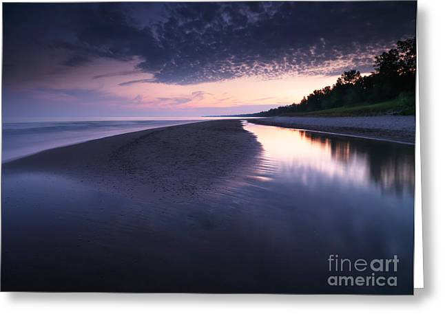 After Sunset Greeting Cards - Long Point Beach Greeting Card by Oleksiy Maksymenko