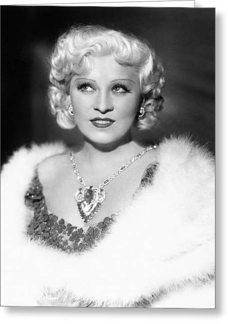 1946 Movies Greeting Cards - Mae West (1892-1980) Greeting Card by Granger