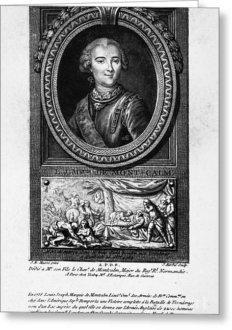 Quebec Scenes Greeting Cards - Marquis De Montcalm Greeting Card by Granger