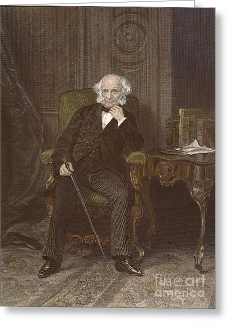 Sideburns Greeting Cards - Martin Van Buren (1782-1862) Greeting Card by Granger