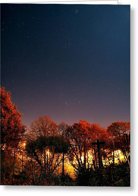 French Open Greeting Cards - Night Sky Greeting Card by Laurent Laveder