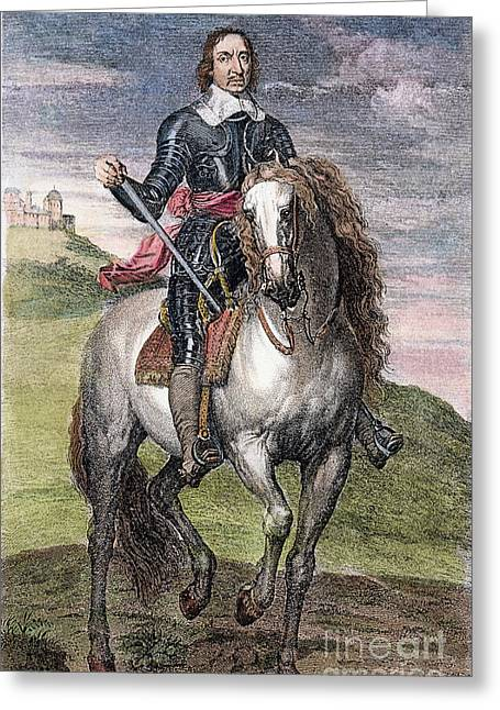 Puritan Greeting Cards - Oliver Cromwell (1599-1658) Greeting Card by Granger