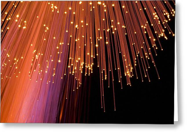 Emitting Greeting Cards - Optical Fibres Greeting Card by Paul Rapson