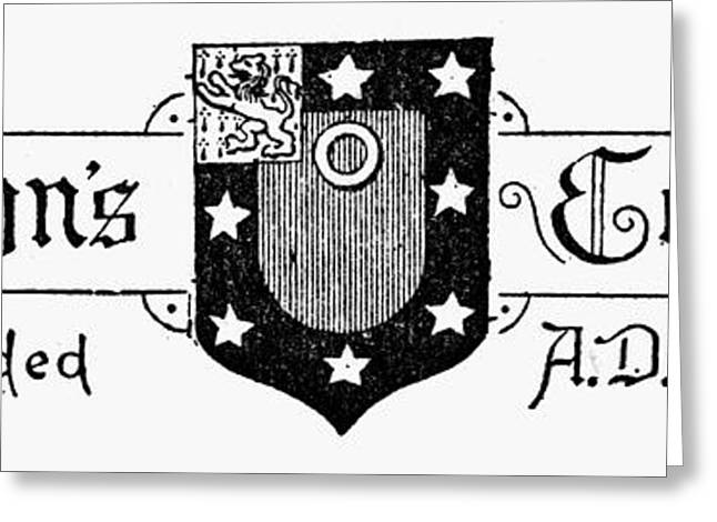 Rampant Greeting Cards - Oxford: Coat Of Arms Greeting Card by Granger