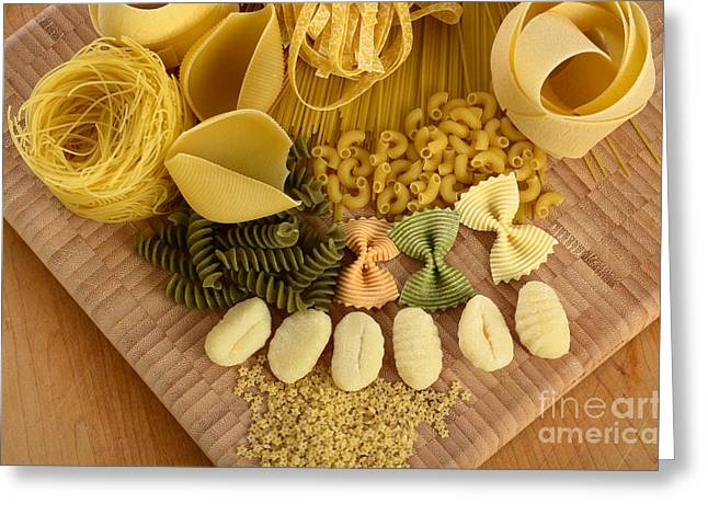 Spaghetti Noodles Greeting Cards - Pasta Greeting Card by Photo Researchers, Inc.