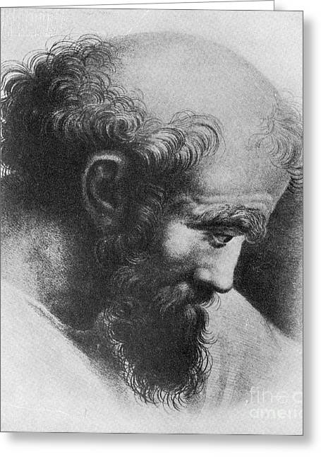 Pythagoras Greeting Cards - Pythagoras, Greek Mathematician Greeting Card by Science Source