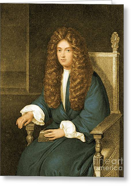Boyle Greeting Cards - Robert Boyle, British Chemist Greeting Card by Science Source