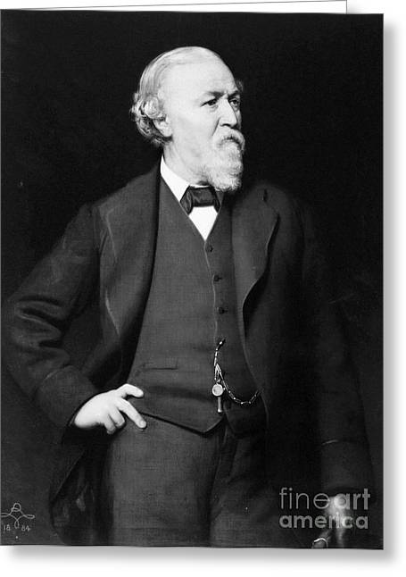 Bowtie Greeting Cards - Robert Browning (1812-1889) Greeting Card by Granger
