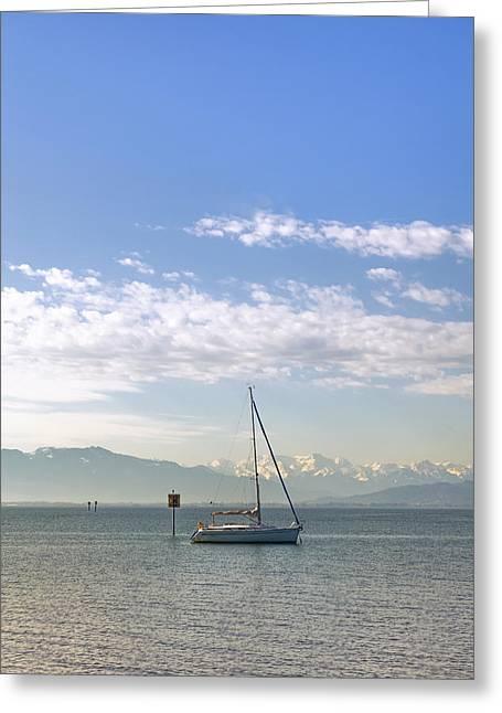 Sailing Boat Greeting Cards - Sailing Boat Greeting Card by Joana Kruse