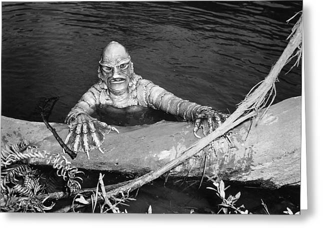 Creature From The Black Lagoon Greeting Cards - Sea Monster, 1953 Greeting Card by Granger