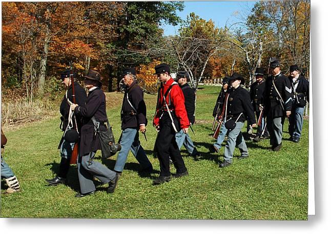 Soldiers March Greeting Card by LeeAnn McLaneGoetz McLaneGoetzStudioLLCcom