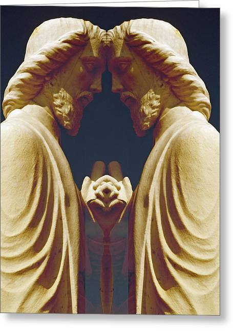 Saint Hope Greeting Cards - St. Mathew Greeting Card by Michele Caporaso