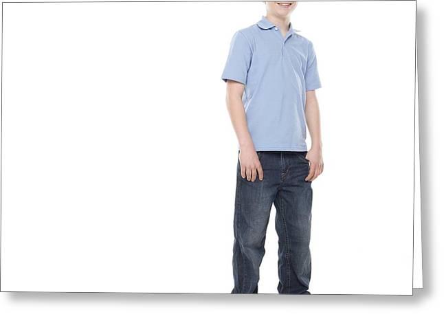 12-13 Years Greeting Cards - Teenage Boy Greeting Card by