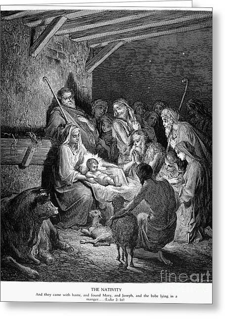 Shepherd Staff Greeting Cards - The Nativity Greeting Card by Granger