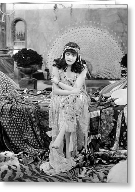 Starlet Greeting Cards - Theda Bara (1885-1955) Greeting Card by Granger