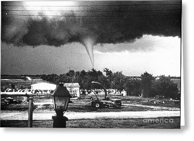 Funnel Clouds Greeting Cards - Tornado Greeting Card by Science Source