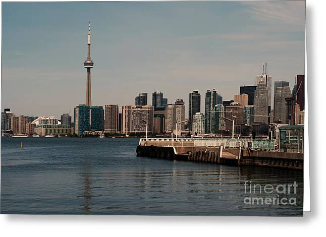 Office Space Photographs Greeting Cards - Toronto skyline Greeting Card by Blink Images
