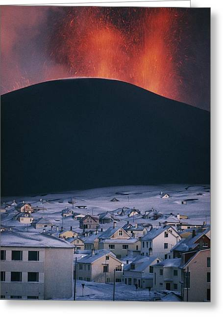 Volcanoes And Volcanic Action Greeting Cards - Untitled Greeting Card by Emory Kristof
