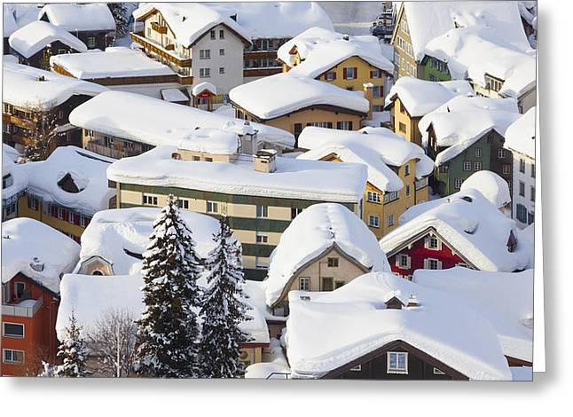 Ski Place Greeting Cards - Untitled Greeting Card by Greg Stechishin