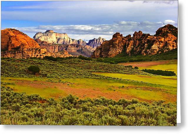 Cave Valley Greeting Cards - Zion National Park Utah Greeting Card by Utah Images