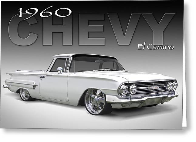 Lowrider Greeting Cards - 60 Chevy El Camino Greeting Card by Mike McGlothlen