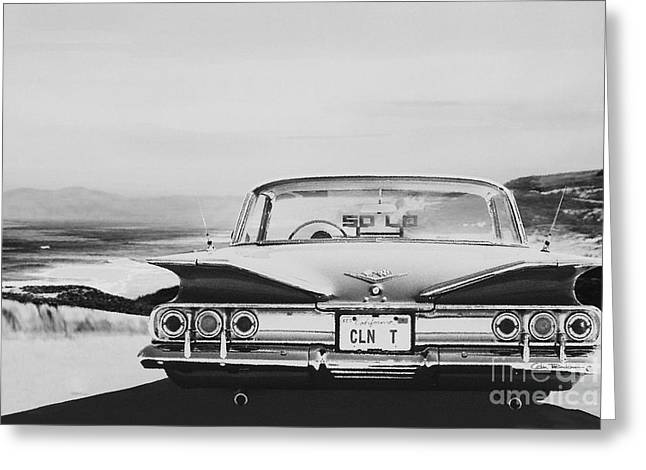 Lowrider Greeting Cards - 60 Impala Lowrider Greeting Card by Colin Tresadern