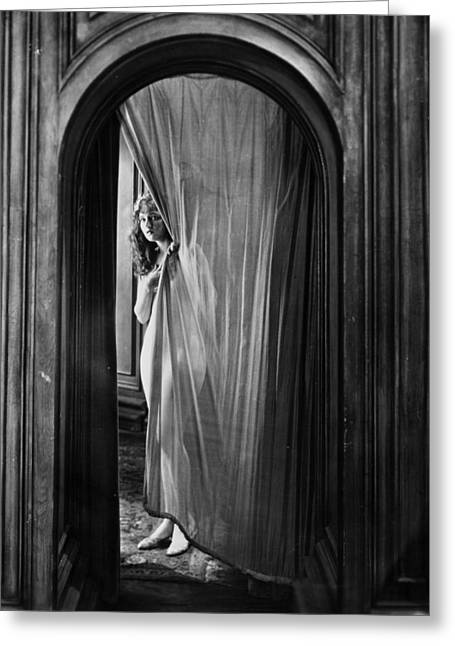 Hiding Greeting Cards - Silent Film Still: Woman Greeting Card by Granger
